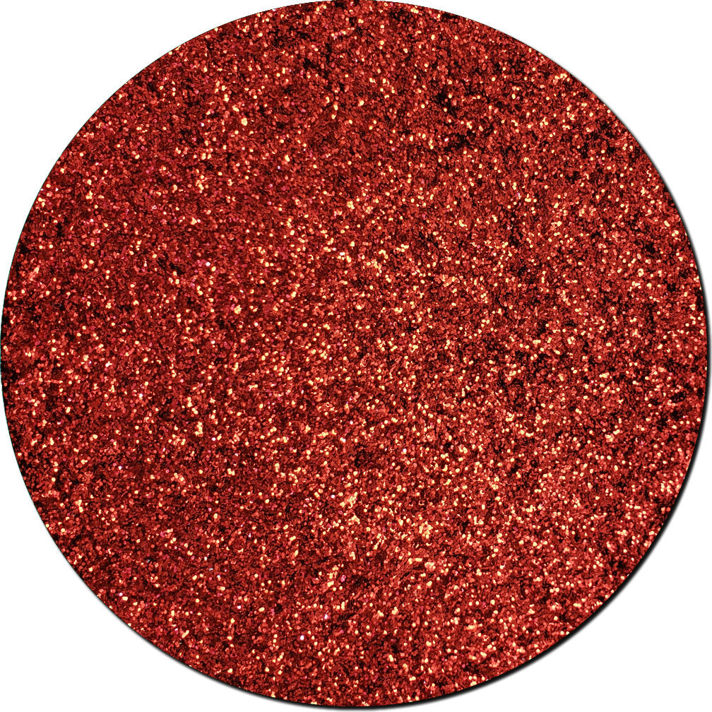 Red Apple Radiance Craft Glitter (fine flake)- 3/4 oz Jar
