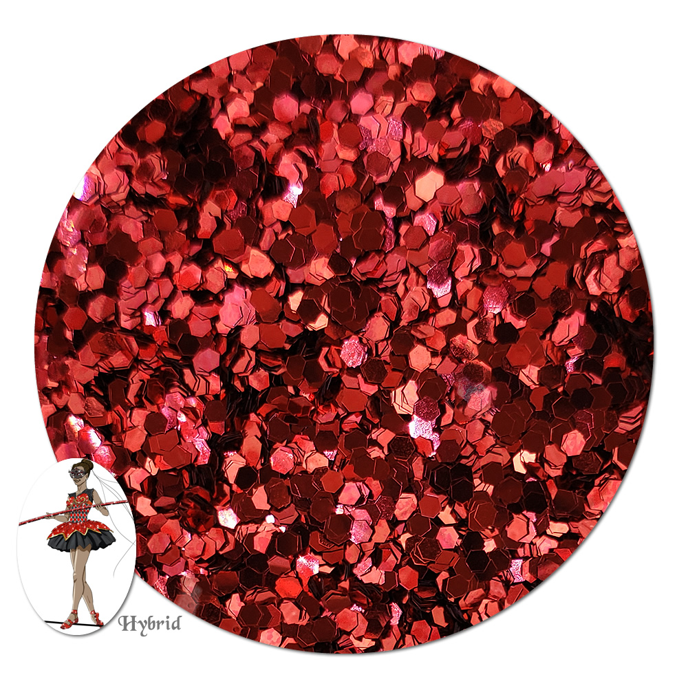 Red Devil Metallic Hybrid Glitter (chunky)- 8 oz. Jar
