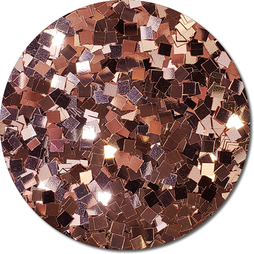A Rose Gold Craft Glitter (Colossal Squares)- 3/4 oz Jar