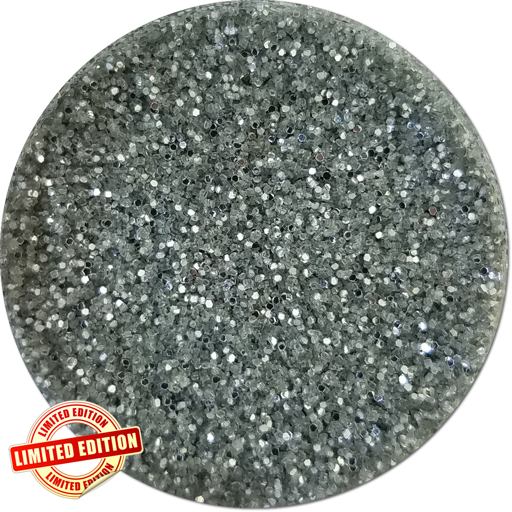 Silver Crush Craft Glitter (fine flake)- 3/4 oz Jar
