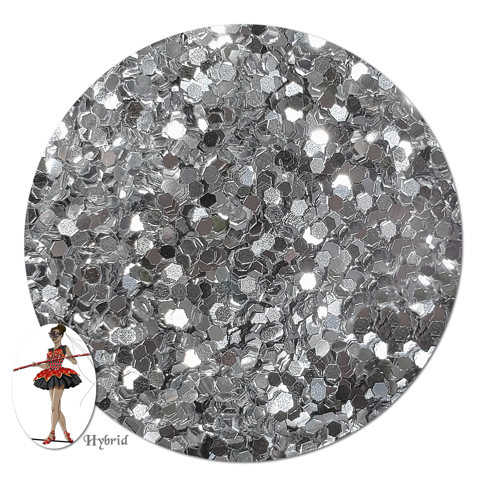 Silver Locket Metallic Hybrid Glitter (chunky)- By The Pound