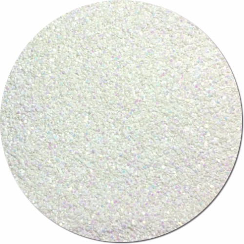 Snow White Iridescent Craft Glitter (chunky flake)- 3/4 oz Jar