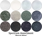 Black & White (12 colors) :Spectrum Glitter Mix :Black & White