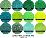 Green-Teals (12 colors) :Spectrum Glitter Mix