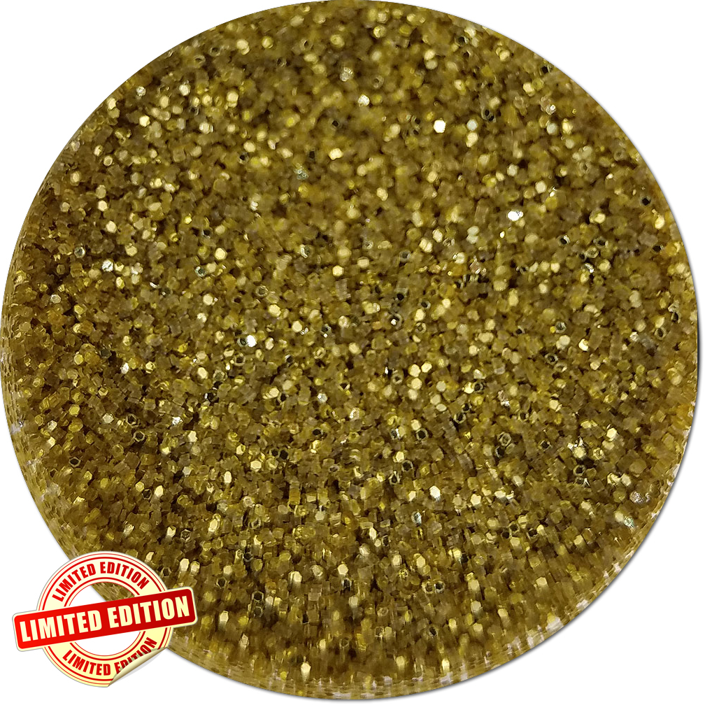 Sunrise Gold Craft Glitter (fine flake)- 3/4 oz Jar