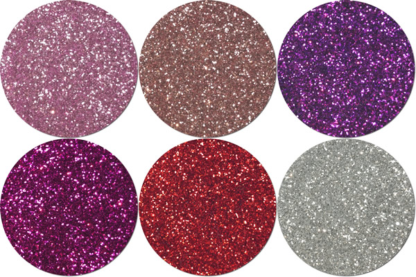 Sweetheart Craft Glitter Assortment  (6 colors)