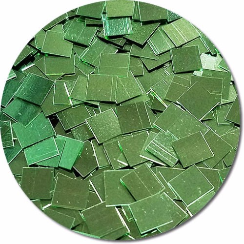 Tiana's Green Wish Craft Glitter (mammoth squares)- 4oz. Jar