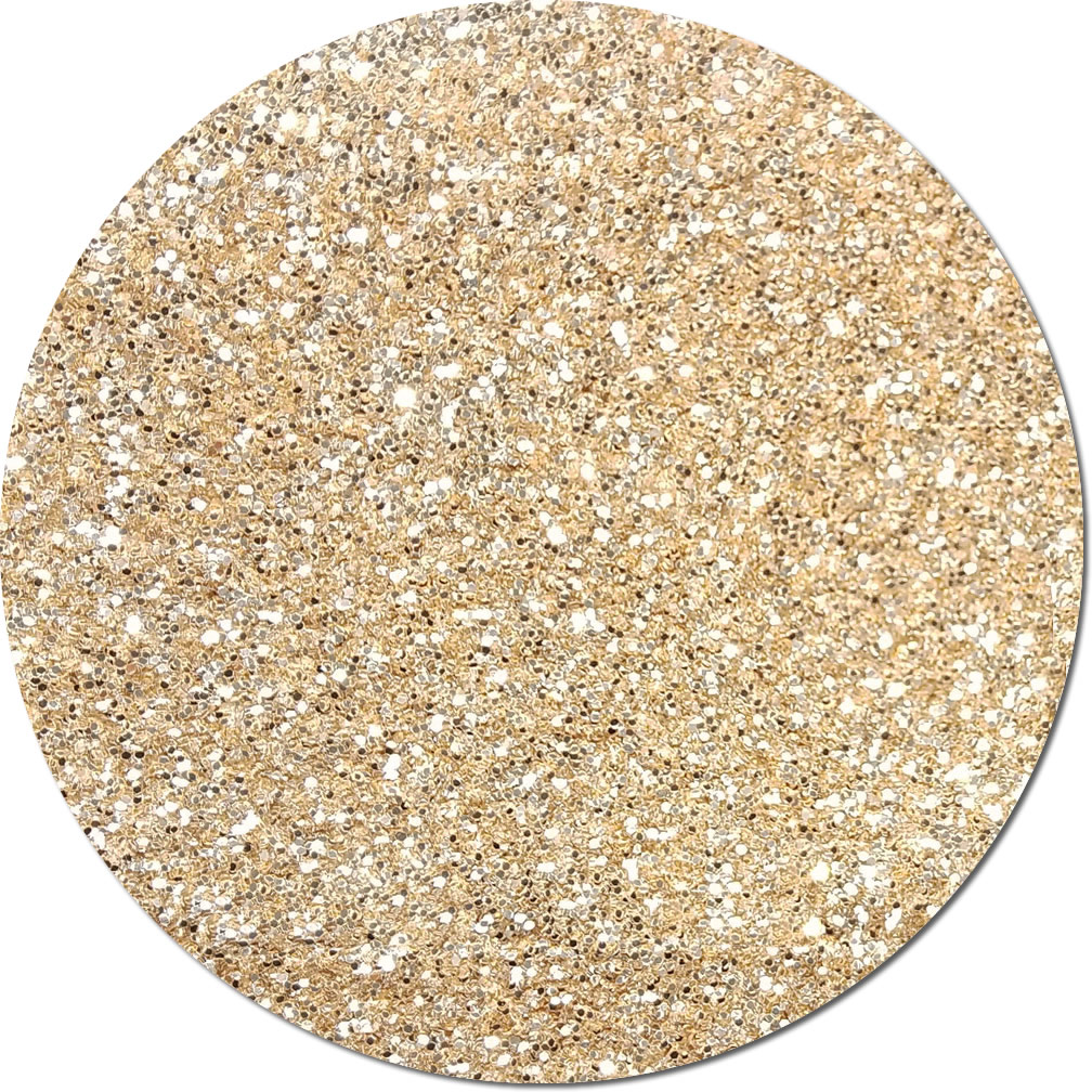 Tiny Bubbles Blush Champagne Craft Glitter (chunky flake)- 3/4 oz Jar