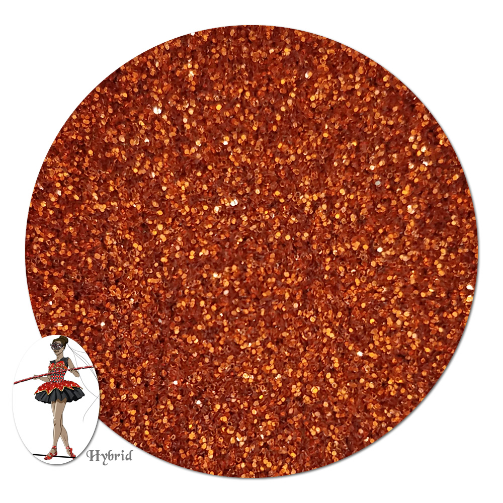 Copperflame Metallic Hybrid Glitter (ultra fine)- 3/4 oz Jar