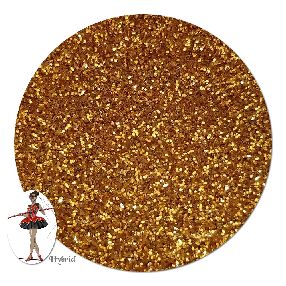 Gold Star Metallic Hybrid Glitter (ultra fine)- 3/4 oz Jar