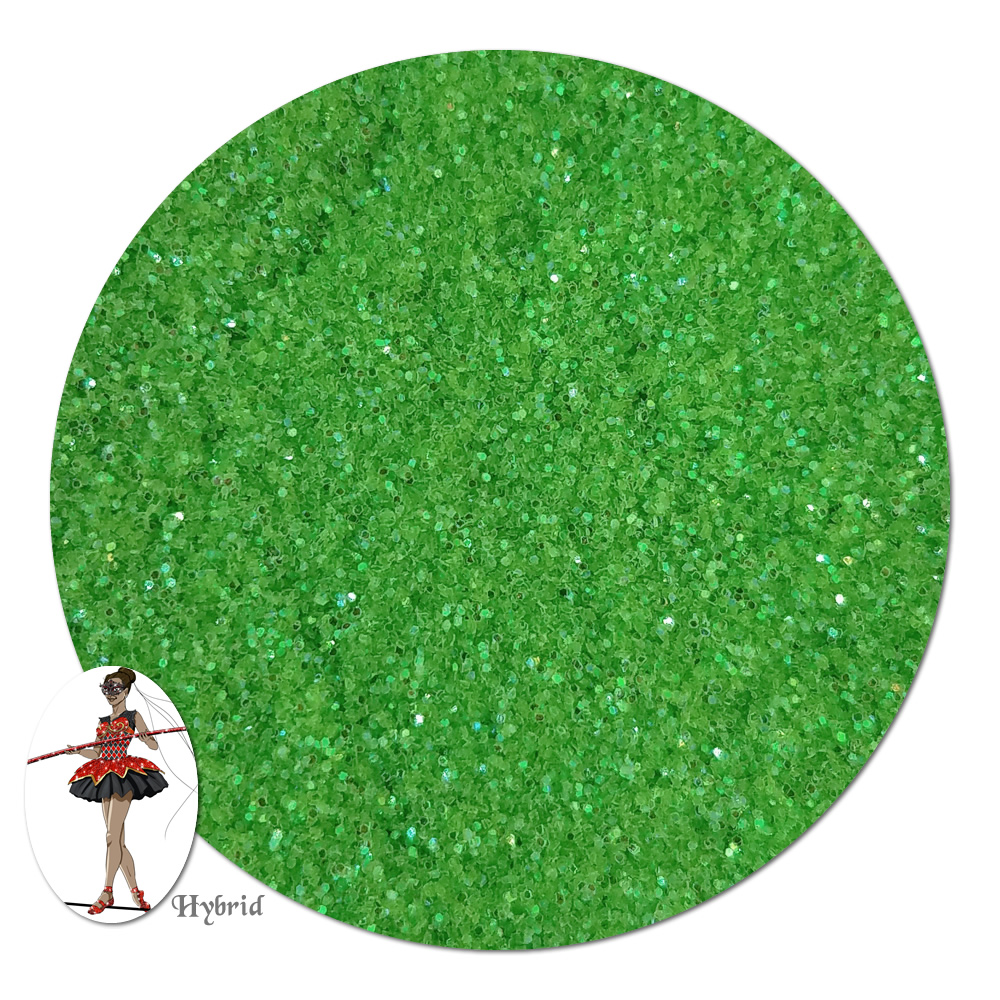 Green Goddess Iridescent Hybrid Glitter (ultra fine)- 3/4 oz Jar