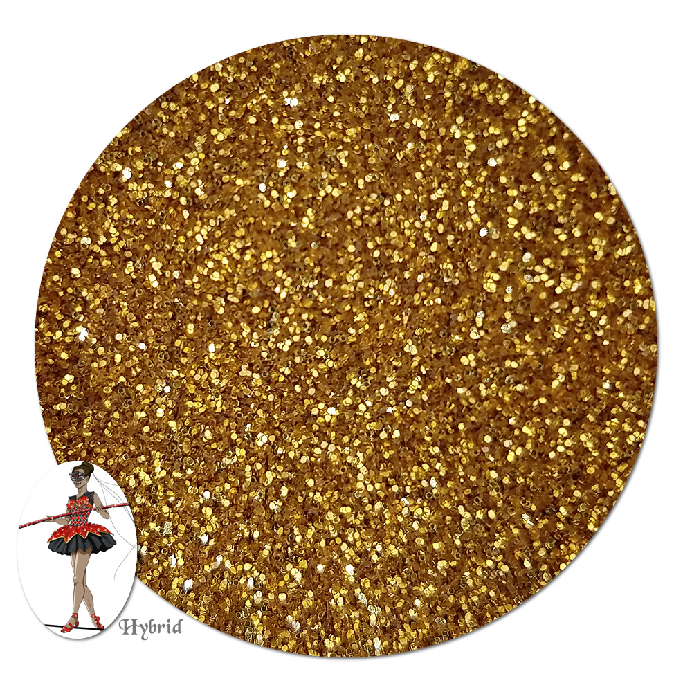 Honorguard Gold Metallic Hybrid Glitter (ultra fine)- 3/4 oz Jar