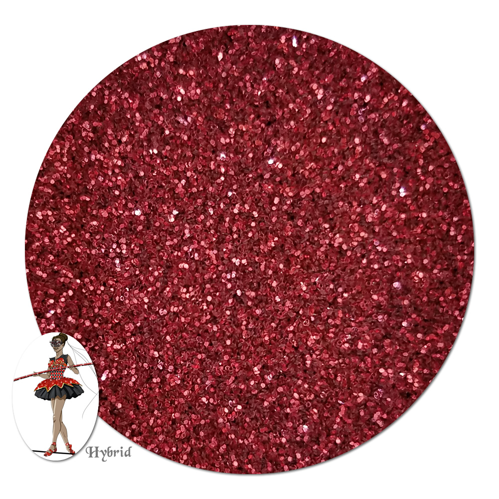 Red Devil Metallic Hybrid Glitter (ultra fine)- 8 oz. Jar