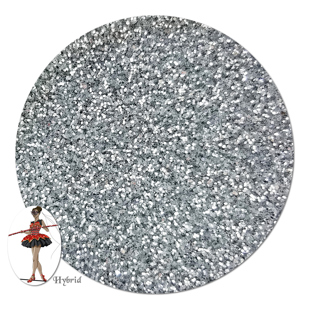 Silver Coin Metallic Hybrid Glitter (ultra fine)- By The Pound