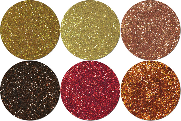 Warm Palette Craft Glitter Assortment (6 colors)