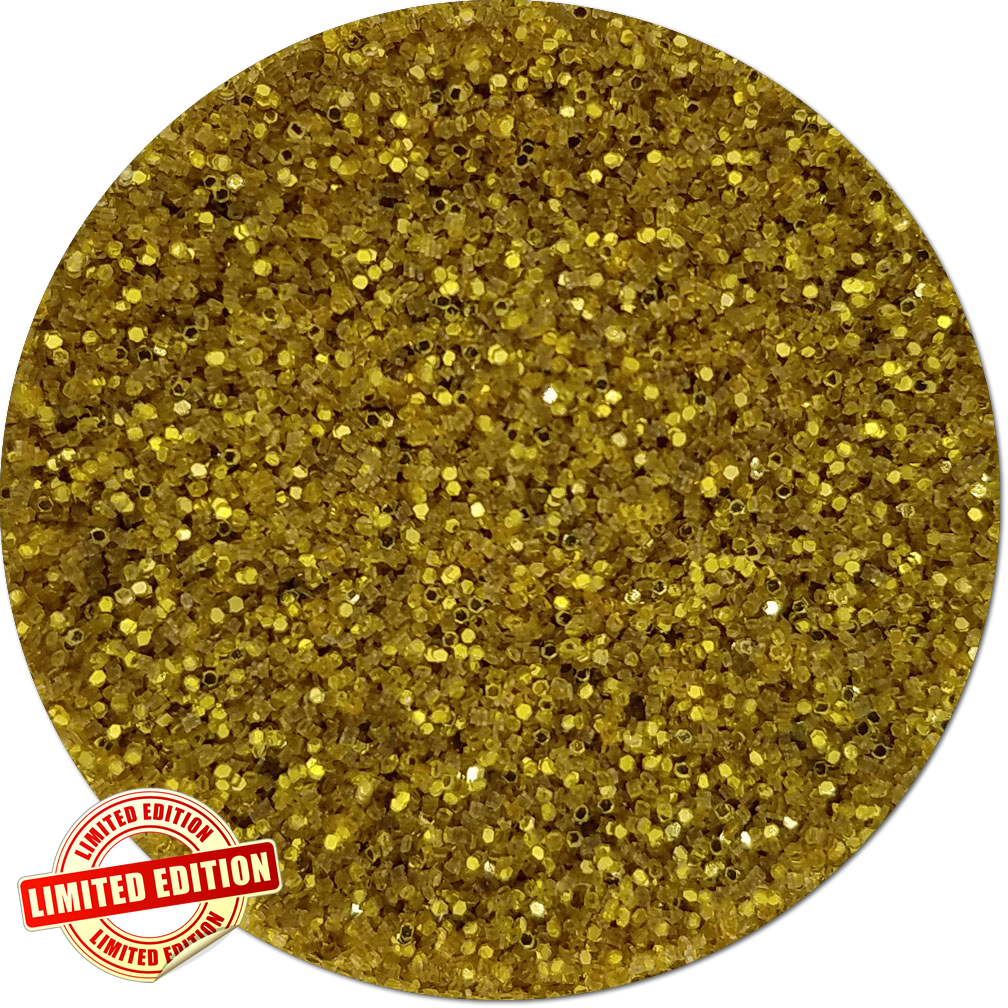 Wonderland Gold Craft Glitter (fine flake)- 3/4 oz Jar