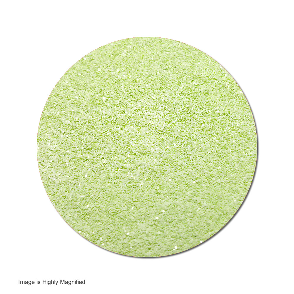 Toni's Apple Green :Ultra Fine Polyester Glitter Cosmetic Prism (jar)
