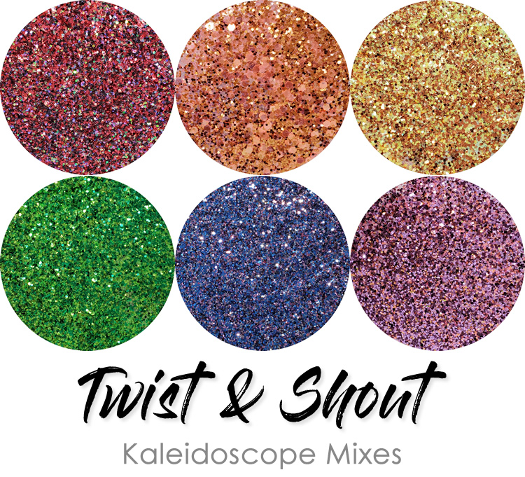 Twist & Shout (6 colors) :Kaleidoscope Glitter Mix Assortment