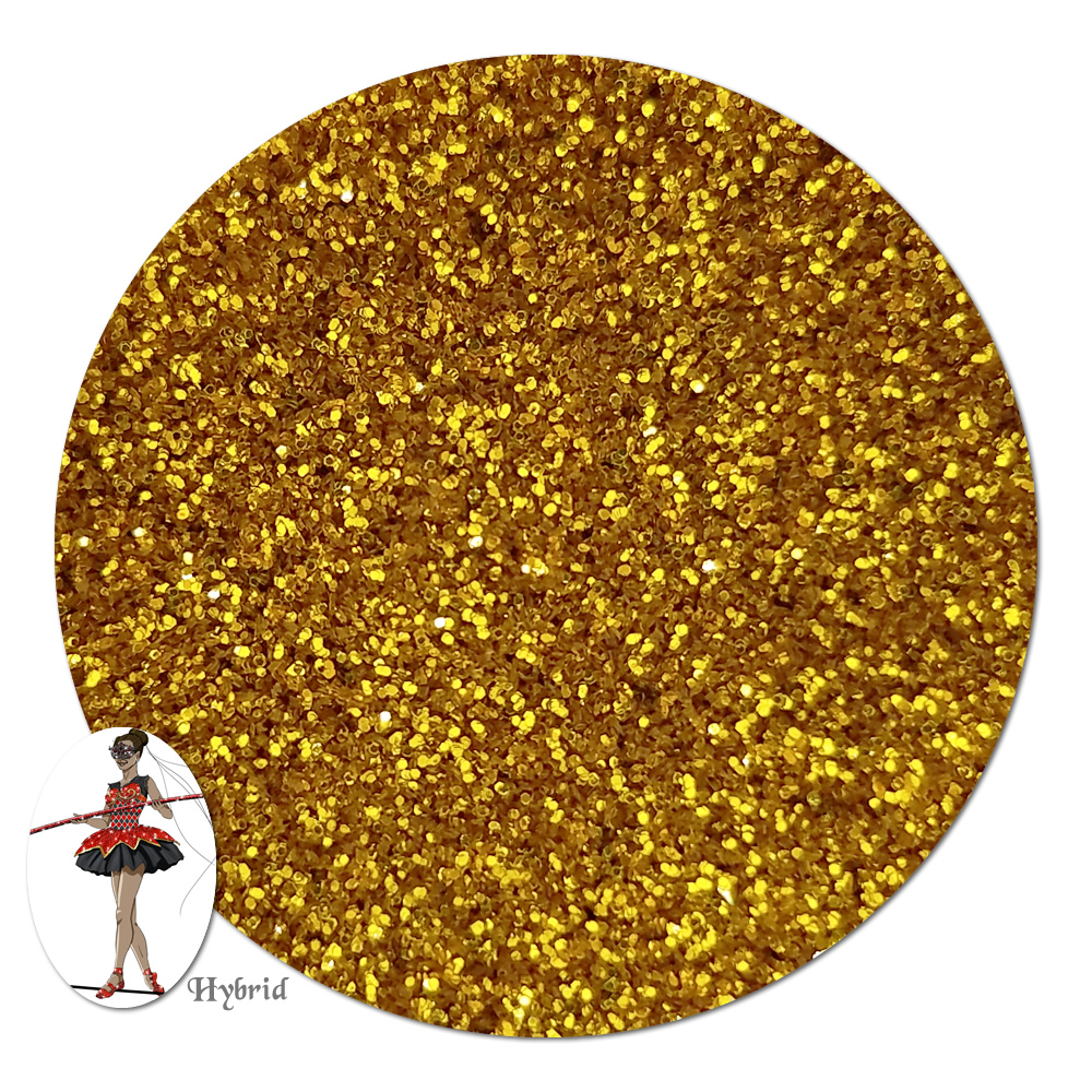 Golden Sunrise Metallic Hybrid Glitter (ultra fine)- 4 oz. Jar