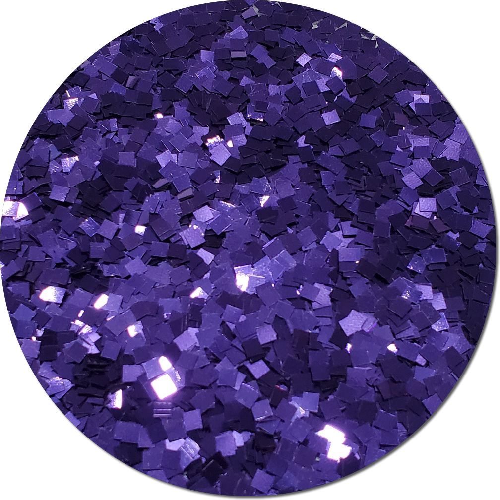 Violet Bliss Craft Glitter (Colossal Squares)- 4 oz. Jar