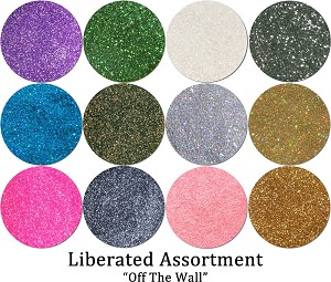 Liberated Glitter Assortment: Off The Wall (12 colors)