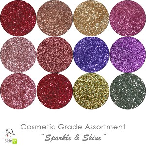 New Sparkle & Shine (12 colors for skin) :COSMETIC Liberated Glitter Assortment