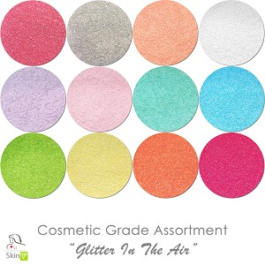 COSMETIC Liberated Glitter Assortment: Glitter In The Air (12 colors for skin)