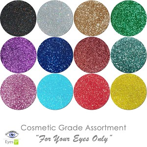 New For Your Eyes Only (12 colors for eyes) :COSMETIC Liberated Glitter Assortment