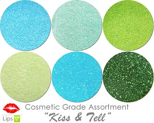 Kiss & Tell (6 colors for lips) :COSMETIC Mia Familia Glitter Asst