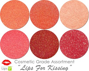 Mia Familia Cosmetic Glitter Asst: Lips For Kissing (6 colors for lips)