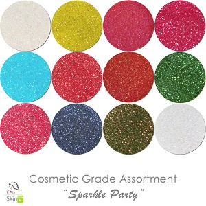Sparkle Party (12 colors for skin) :COSMETIC Liberated Glitter Assortment