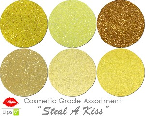 Mia Familia Cosmetic Glitter Asst: Steal A Kiss (6 colors for lips)