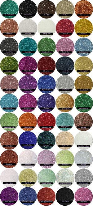 Select from an array of craft glitter colors and build your own glitter assortment.