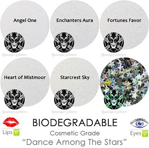 Mia Familia Biodegradable Glitter Asst. (Iridescents & Stars)