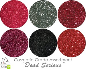 Dead Serious (6 colors for skin): COSMETIC Escape Glitter Asst