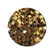Fairy Stars Gold :Polyester Shaped Glitter (jar)