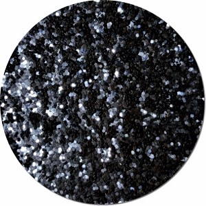 Black Shadow Craft Glitter (Fat flake)- 8 oz. Jar