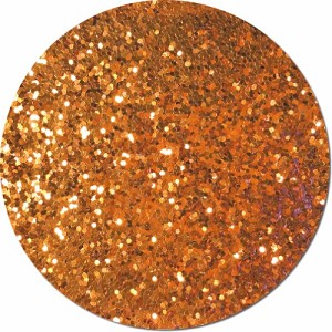 Carrot Orange Craft Glitter (Fat flake)- 4 oz. Jar
