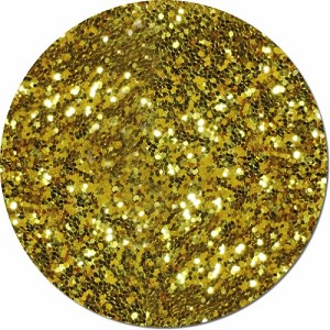 Gold Bullion Craft Glitter (Fat flake)- 3/4 oz Jar