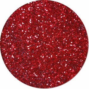 A Very Merry Red Craft Glitter (Fat flake)- 3/4 oz Jar