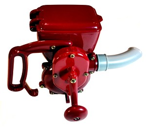 Kraft Tool DC615 Glitter Gun-The nozzle in the front can be positioned up, left, right or down. It is also removeable.