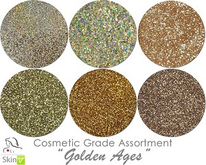 Golden Ages (6 colors for skin): COSMETIC Escape Glitter Asst