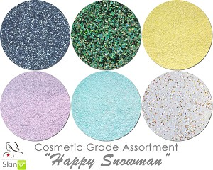 Happy Snowman (6 colors for skin): COSMETIC Escape Glitter Asst
