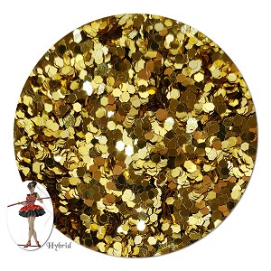 Honorguard Gold Metallic Hybrid Glitter (chunky)- 3/4 oz Jar
