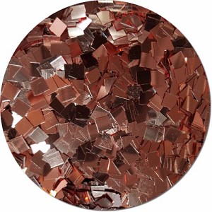 A Rose Gold Craft Glitter (Mammoth Squares)- 3/4 oz Jar