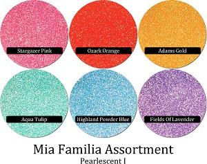 Mia Familia Glitter Assortment: Pearlescents I (6 colors)