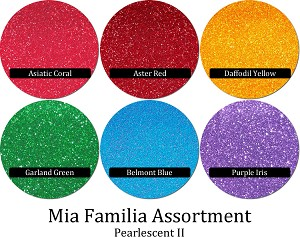Pearlescents II (6 colors) :Mia Familia Glitter Assortment