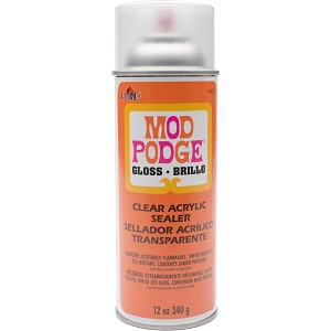 Mod podge clear acrylic aerosol sealer for Waterproof acrylic sealer for crafts