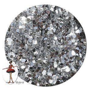 Silver Coin Metallic Hybrid Glitter (chunky)- By The Pound