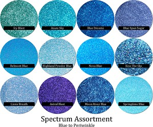 Spectrum Glitter Mix Blue Periwinkle 12 Colors